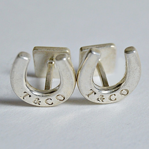 Tiffany Sterling Silver Horseshoe Cufflinks