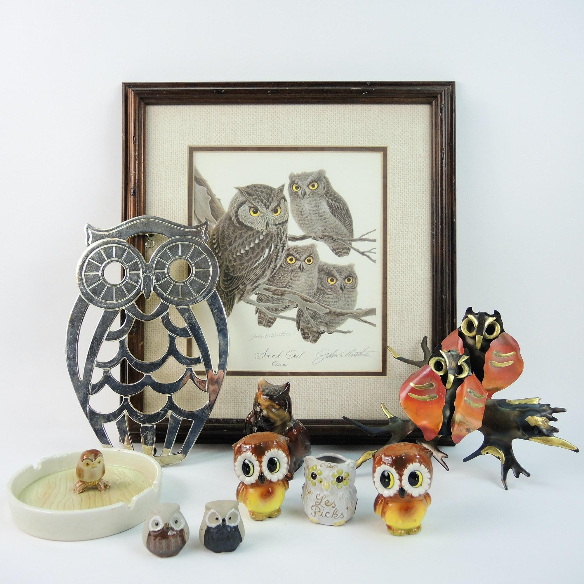 "John Ruthven ""Screech Owl"" Print and Collectibles"