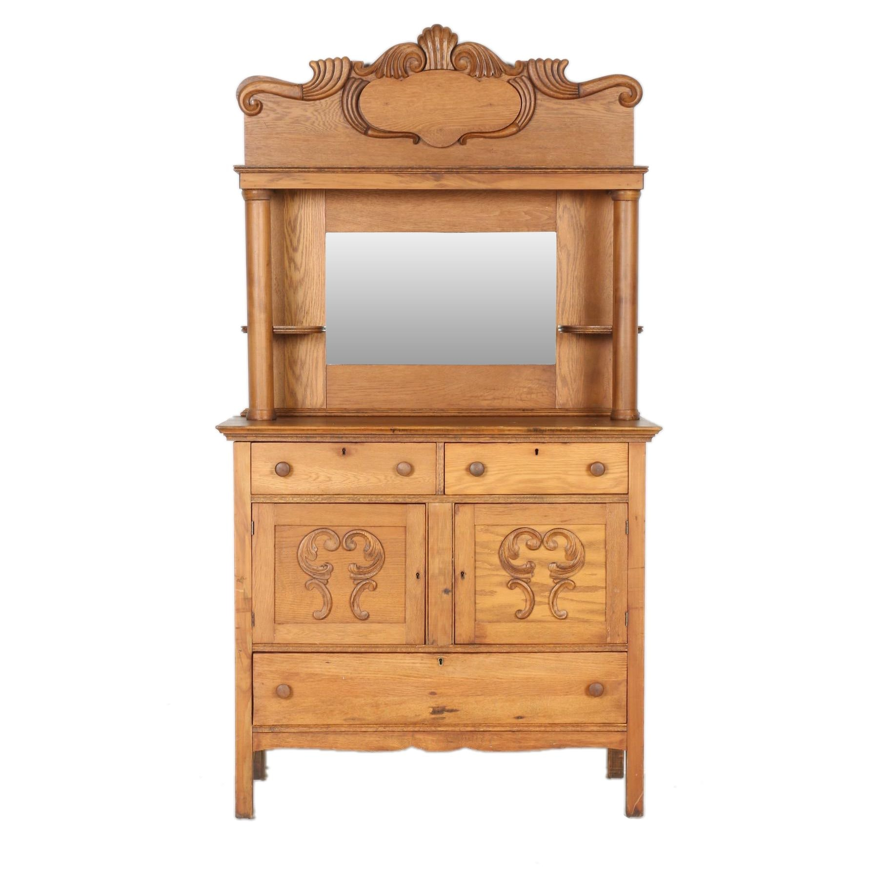 Victorian Buffet With Mirror