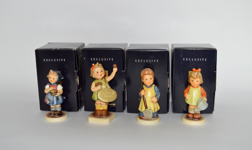 Four Exclusive Edition Signed M. I. Hummels Figurines