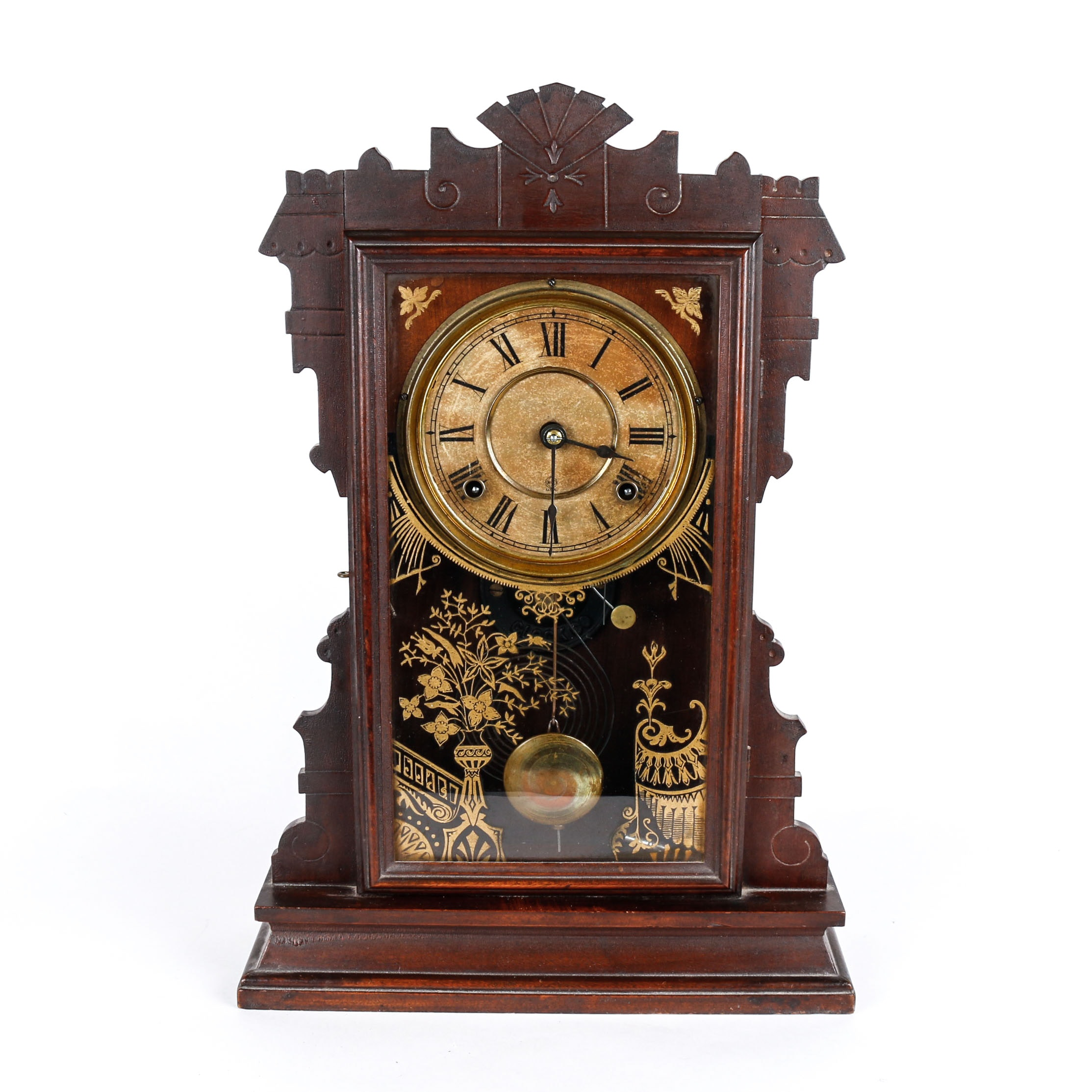Antique Seth Thomas German Gingerbread Style Mantel Clock