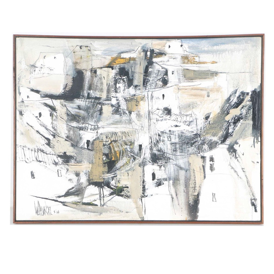 Gino Hollander Acrylic on Canvas of Abstract Landscape