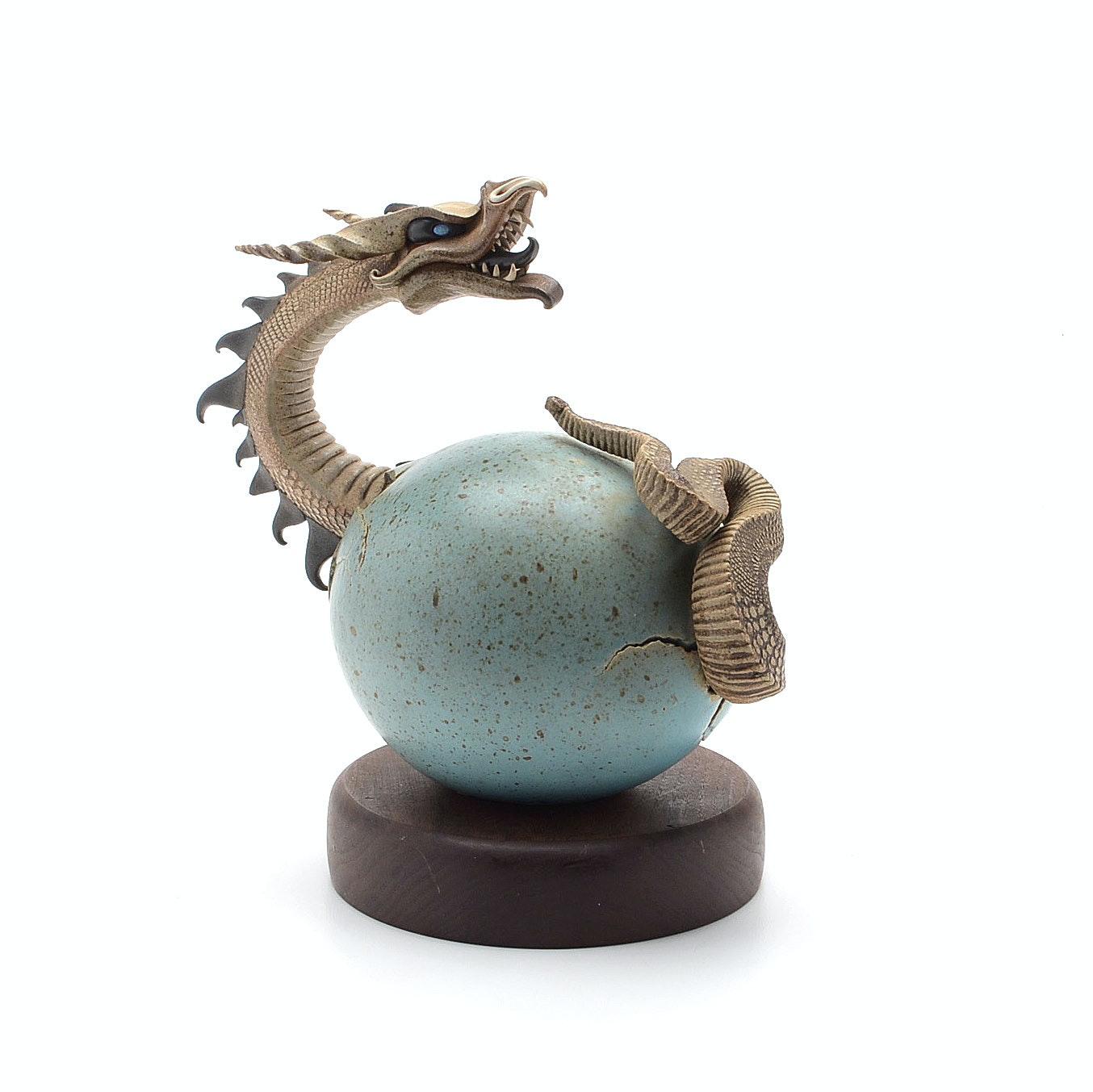 Dennis Thompson Dragon Egg Stoneware Sculpture