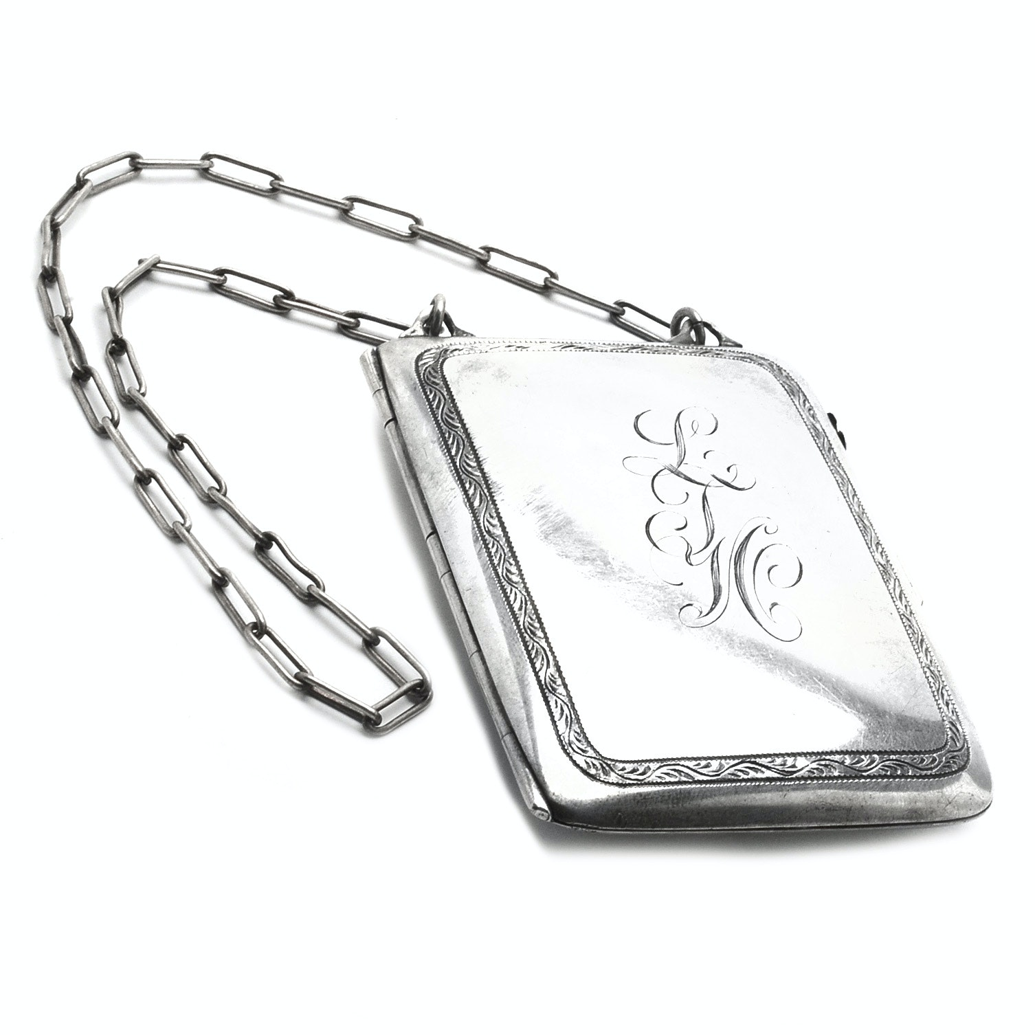 Vintage Sterling Silver Compact Coin Purse