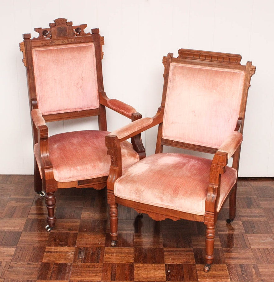 Antique victorian parlor chairs - Antique Eastlake Parlor Chairs