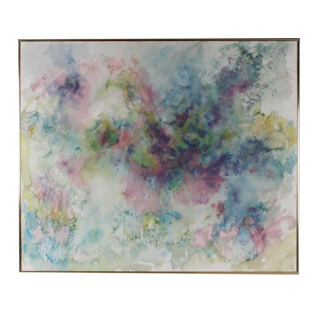 "Original Thelma Walter Watercolor ""Spiritual Essence"""
