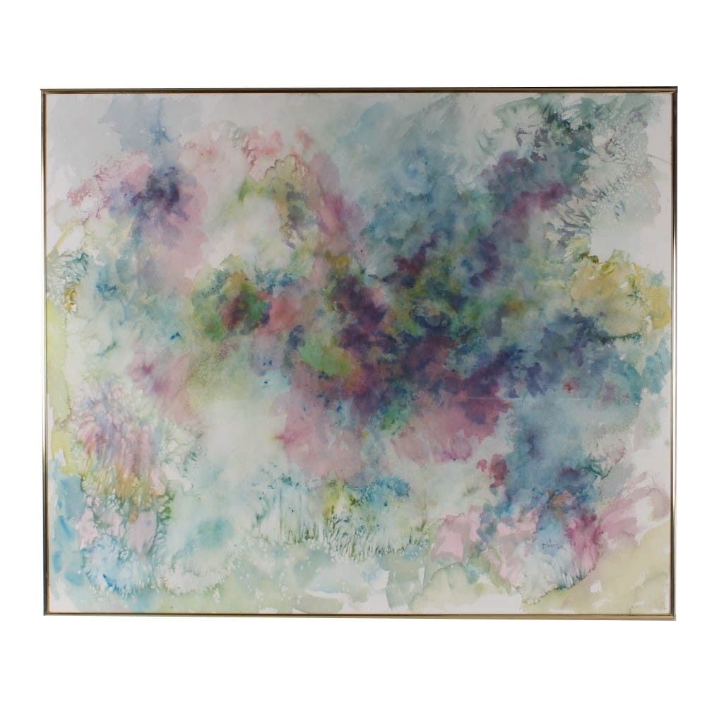 "Original Thelma Walter Watercolor ""Spiritual Essence"""