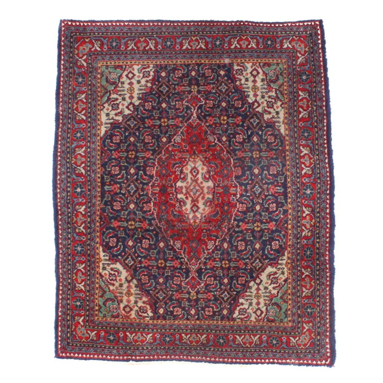 Hand-Knotted Persian Wool Accent Rug