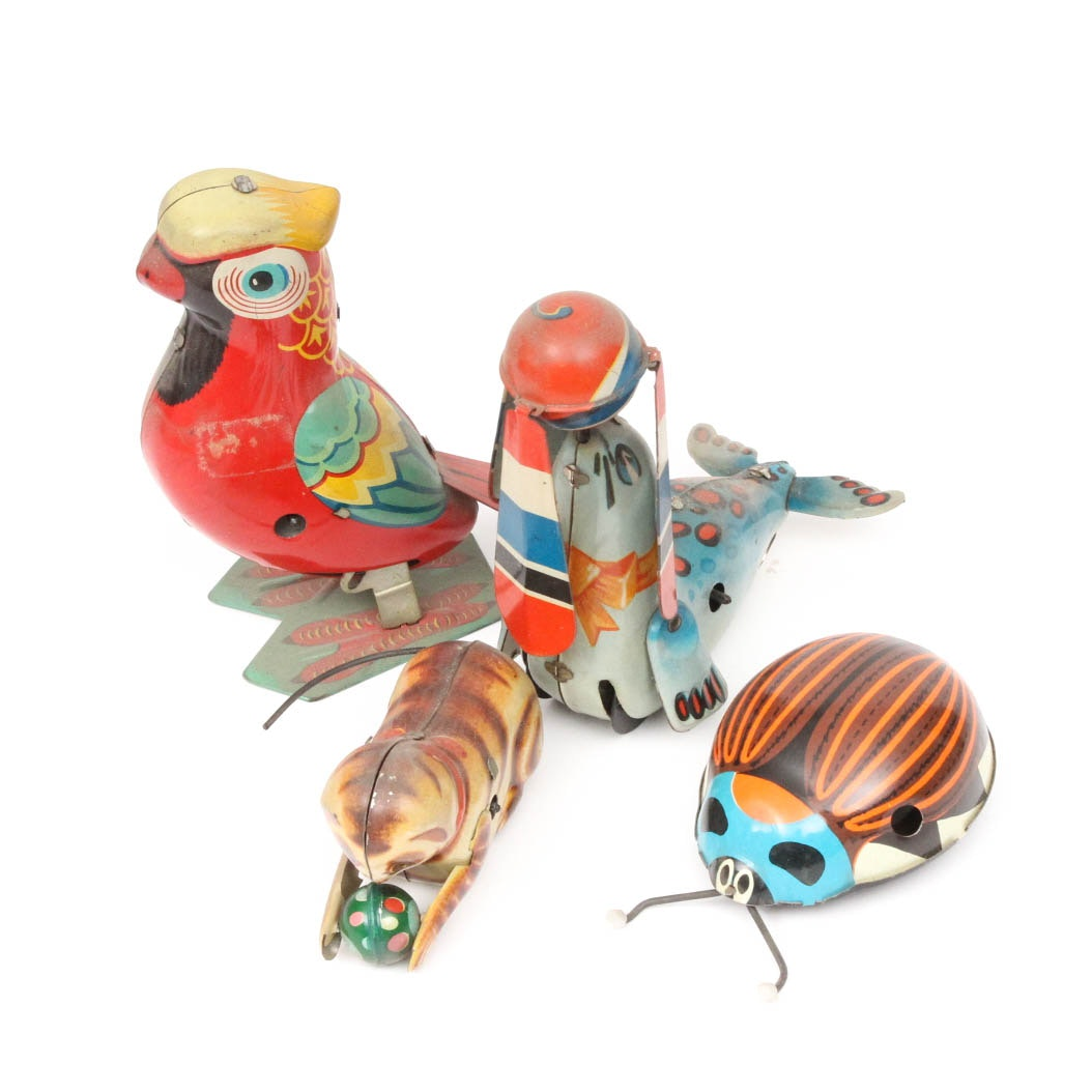 Vintage Tin Wind Up Toys