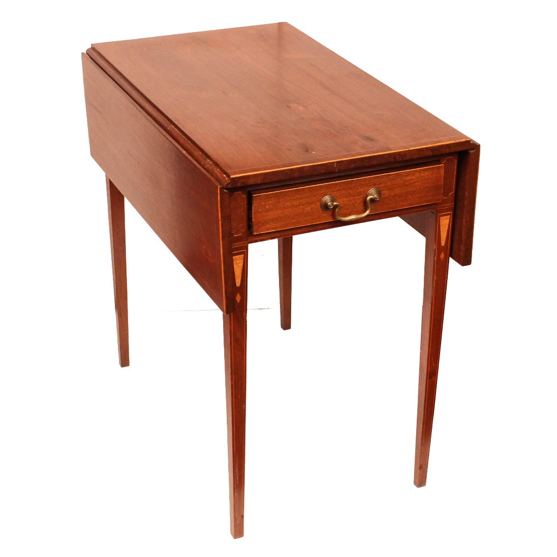 Vintage Mahogany Drop Leaf Side Table