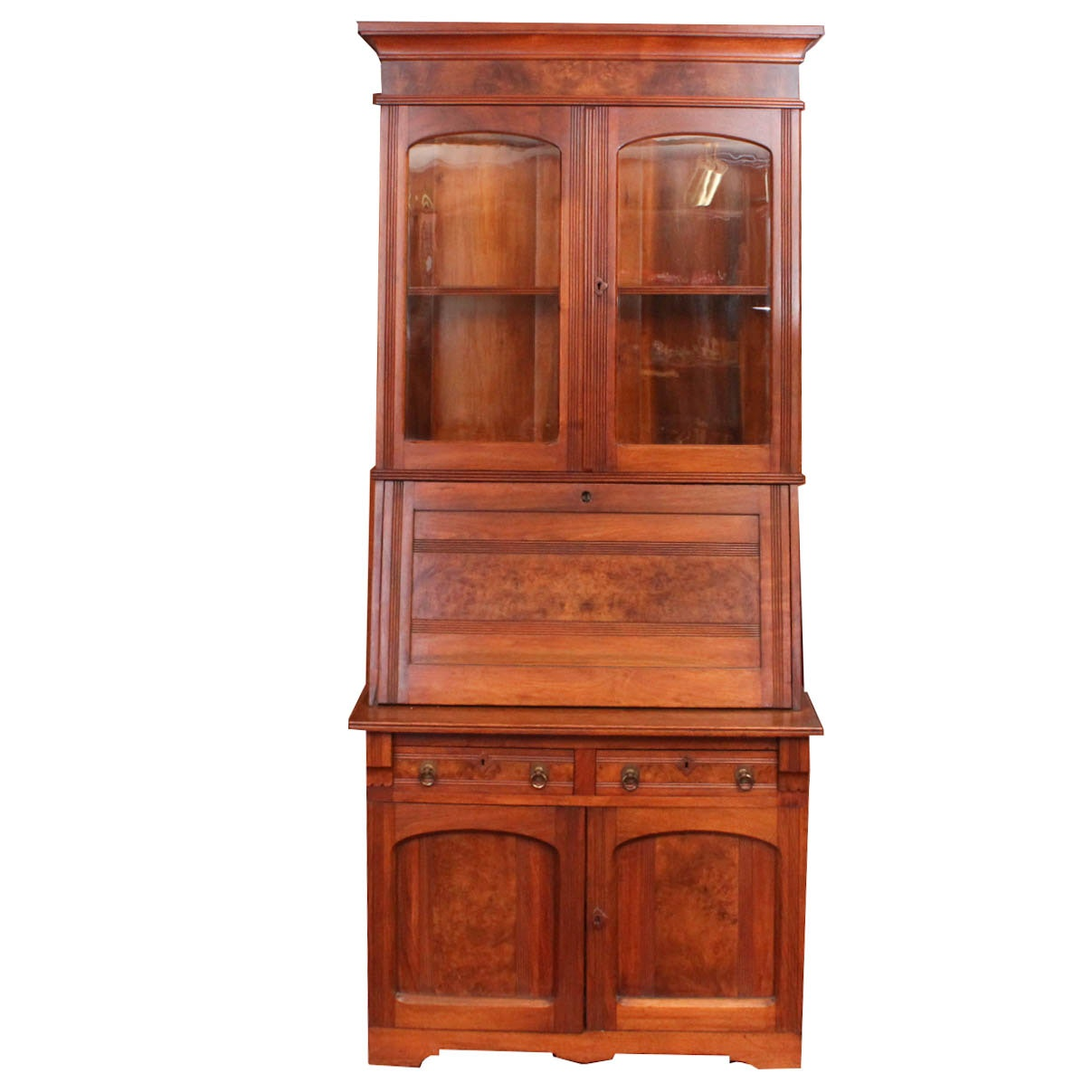 Antique Eastlake Drop Front Secretary