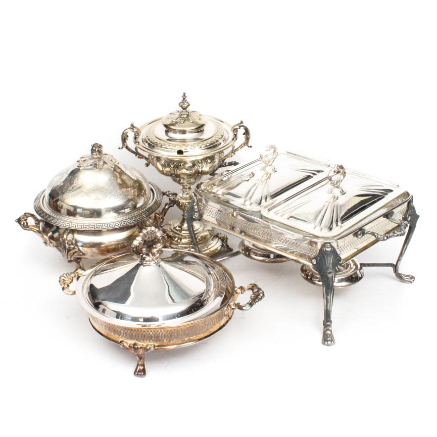 Vintage Silver Plate Chafing Dish Collection