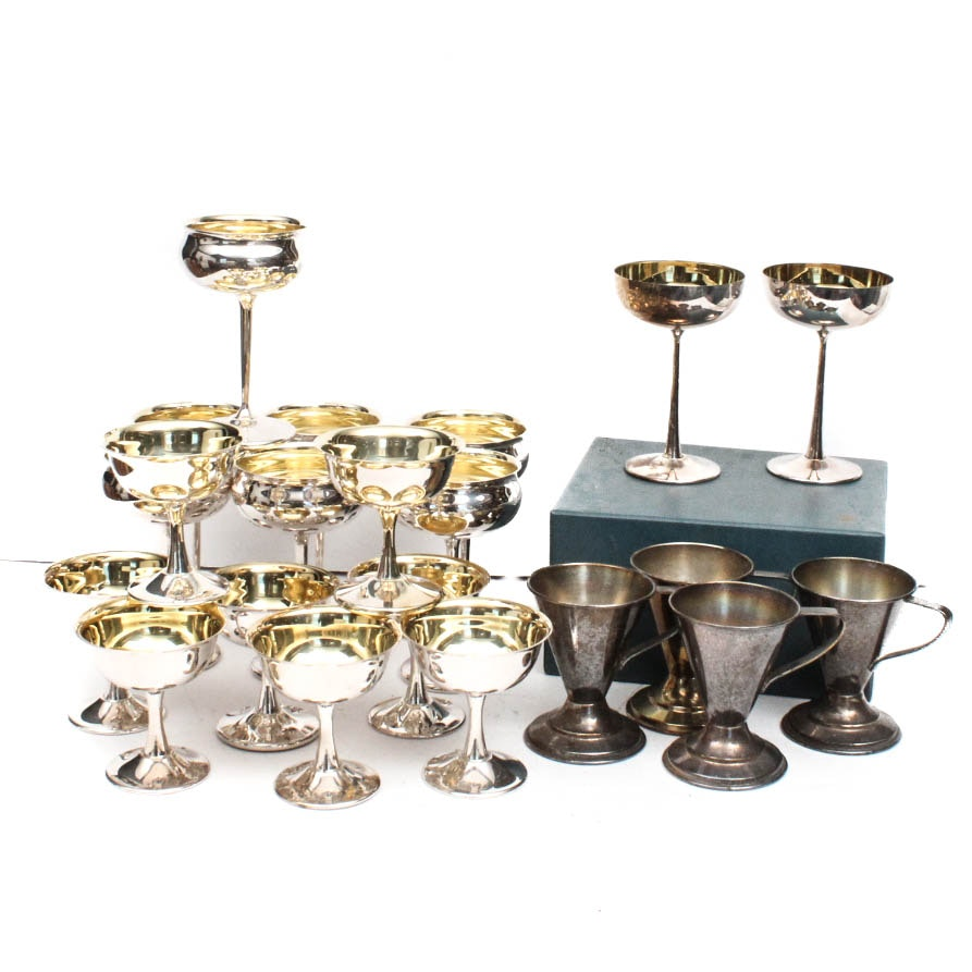 Vintage Sheridan Silver Plate Barware Collection