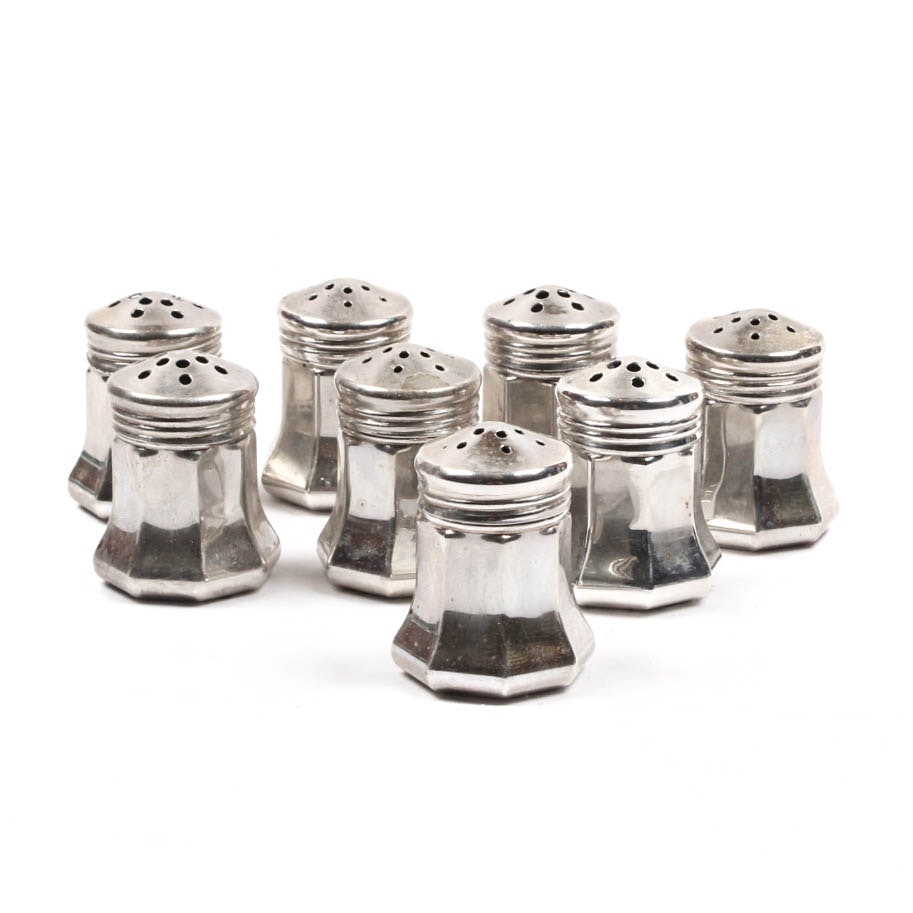 Cartier Sterling Silver Individual Salt and Peppers