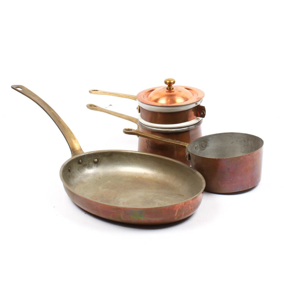 Vintage Copper Cookware Collection