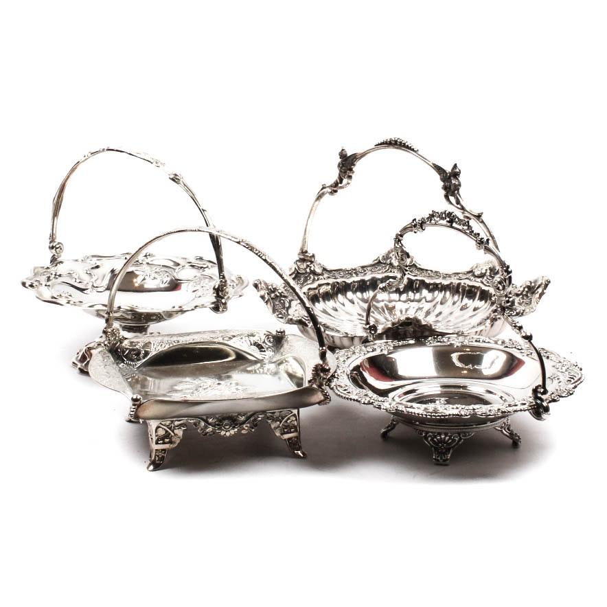 Vintage Silver Plate Bride's Basket Collection