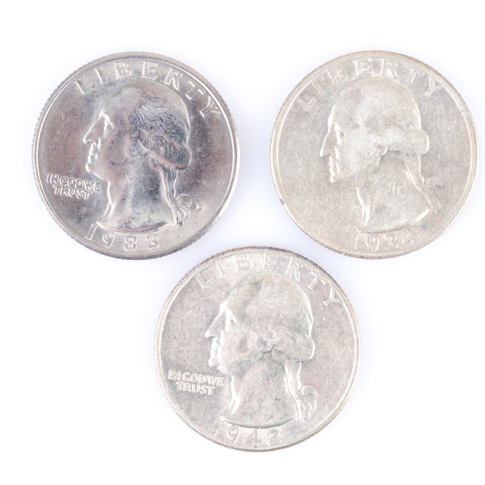 Assortment of Washington Quarters