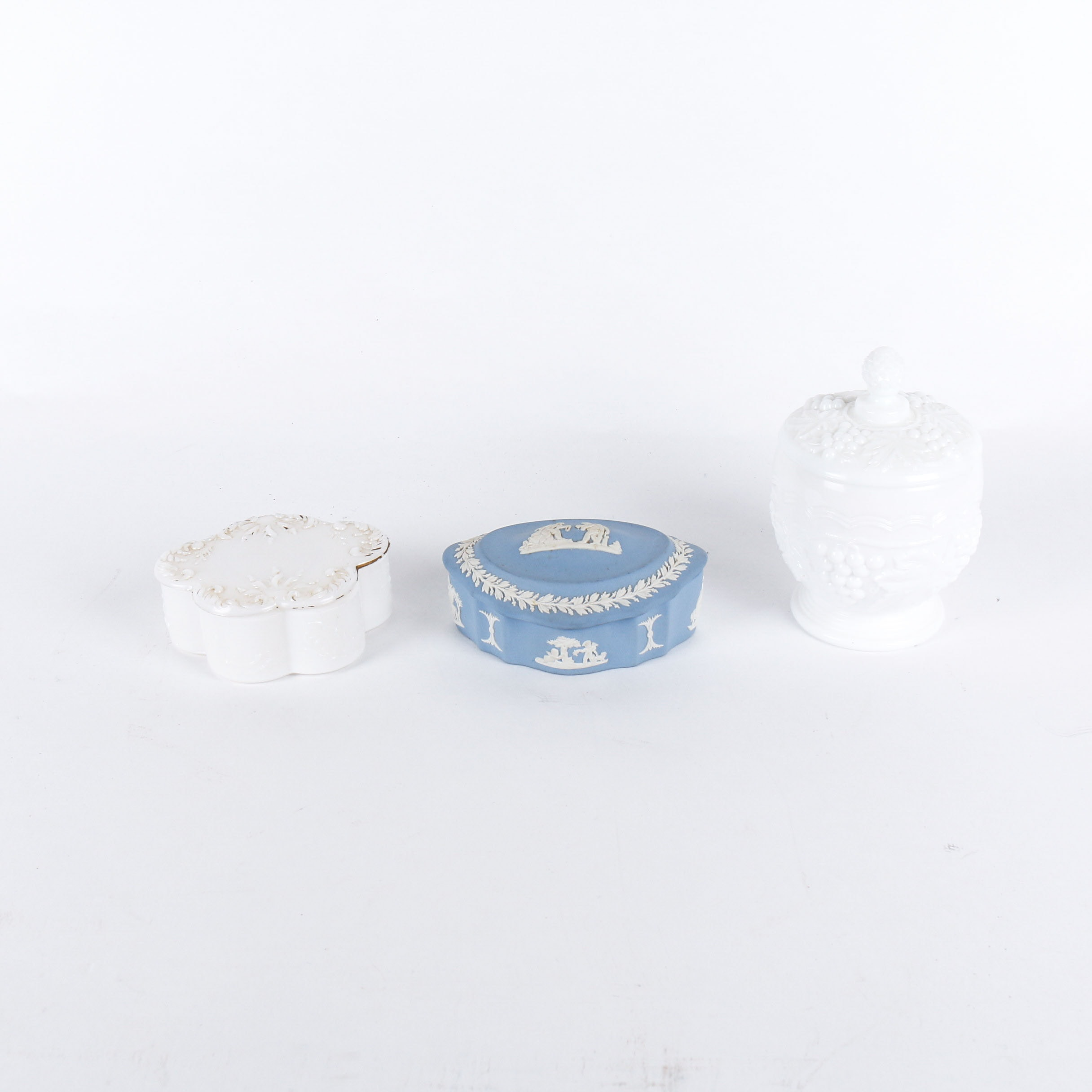 Collection of Three VintageTrinket Boxes Including Wedgwood