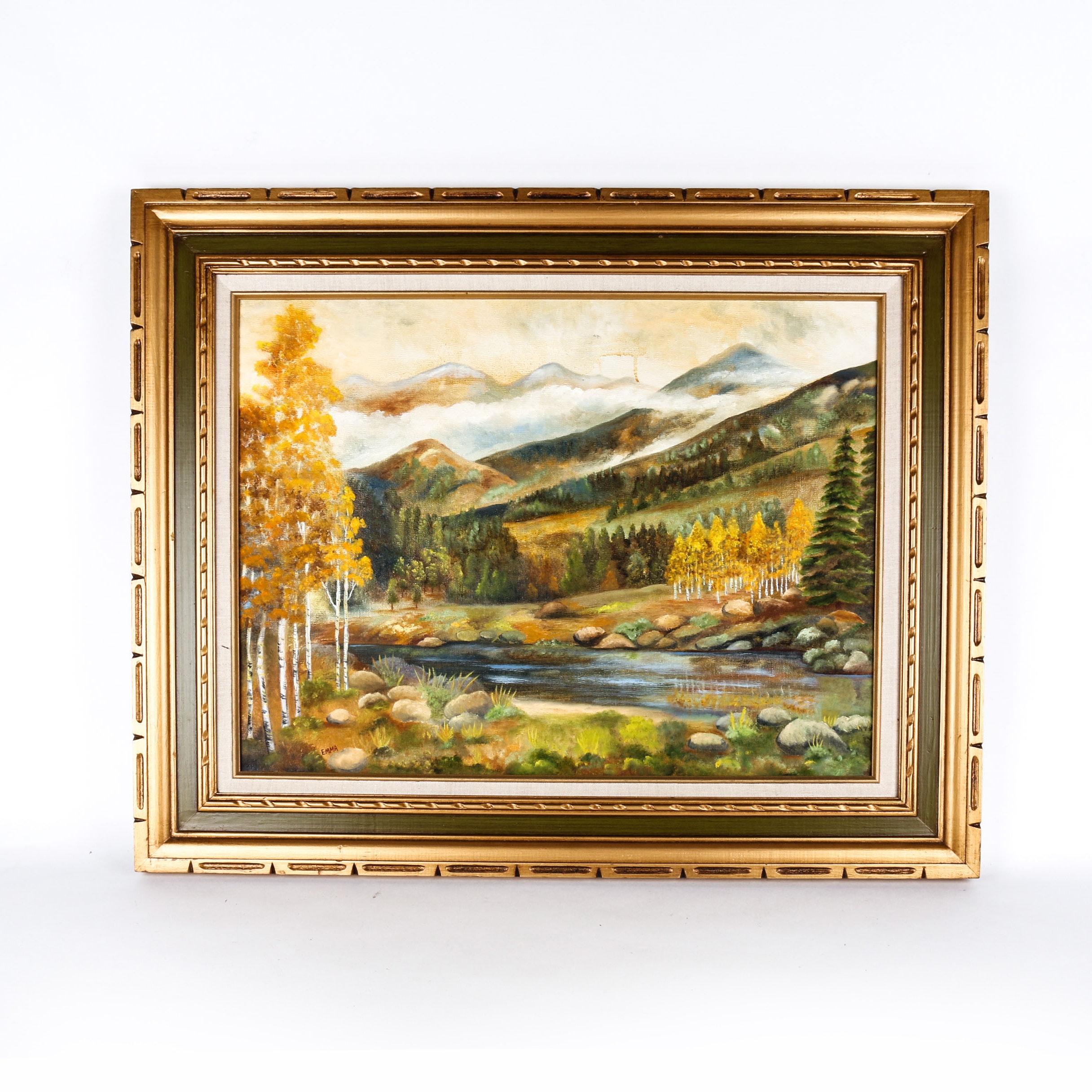 Autumnal Landscape Acrylic on Canvas