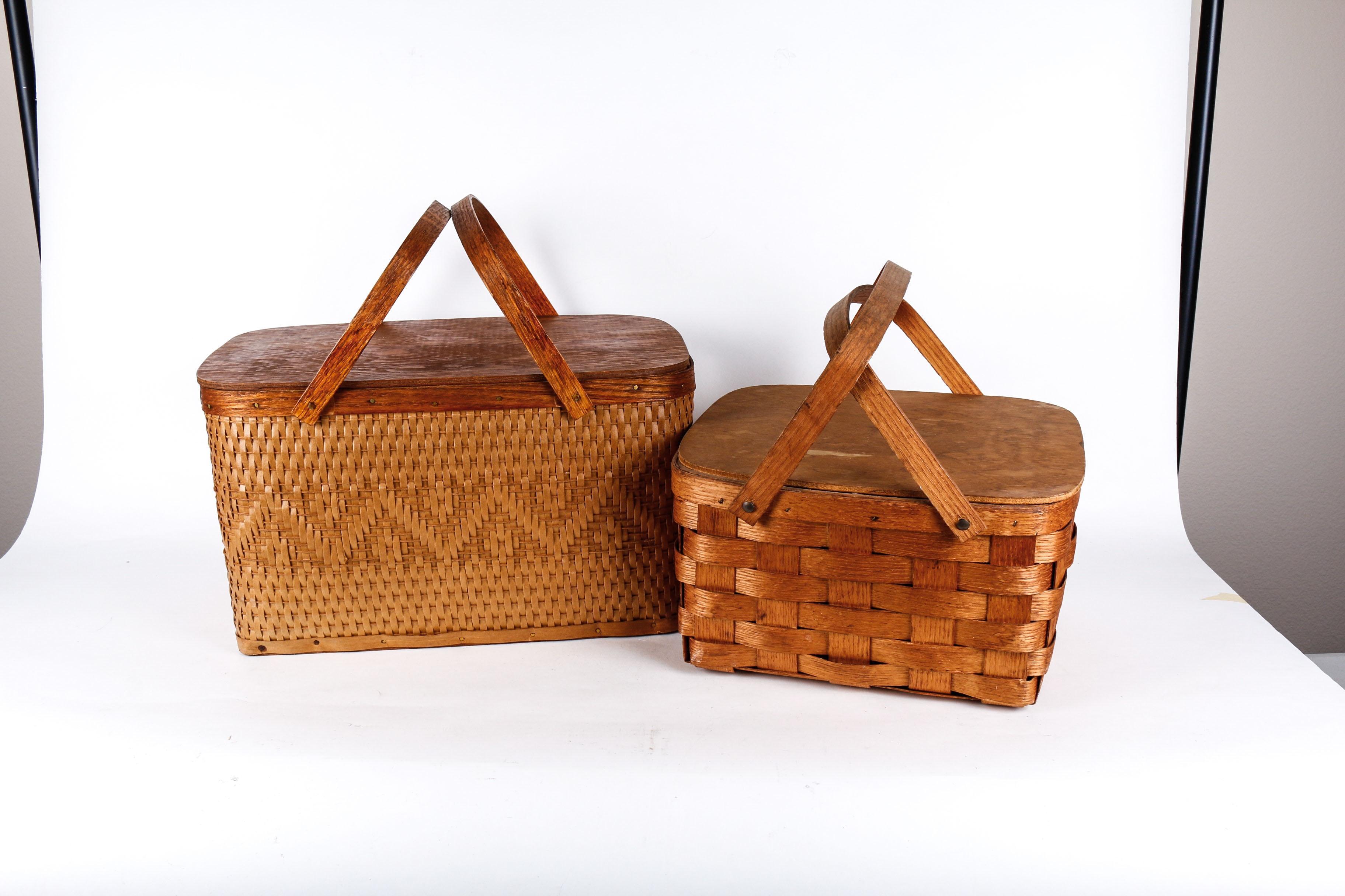 Pair of Vintage Picnic Baskets