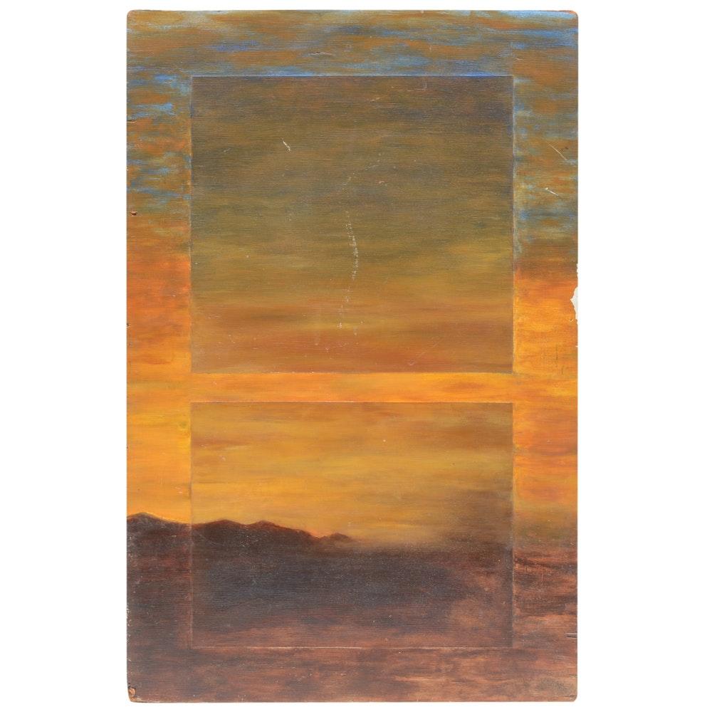Jeff Clark Landscape Painting on Board
