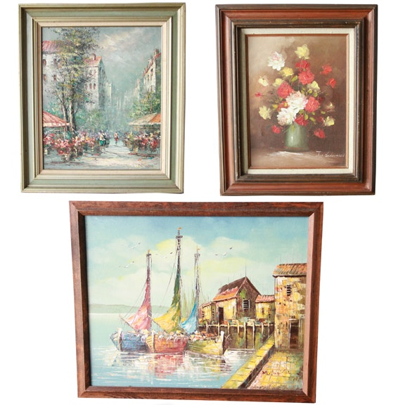 Selection of Oil Paintings in Frames