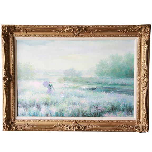 Henri Dupre Oil on Canvas Painting of Landscape