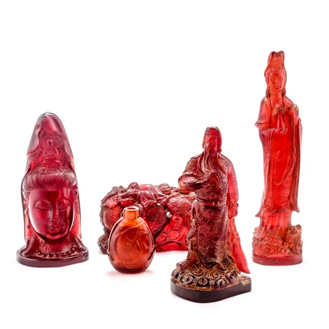 Pre 1940 Bakelite and Plastic Chinese Sculptures