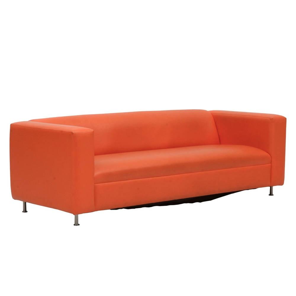 Mid Century Modern Orange Sofa
