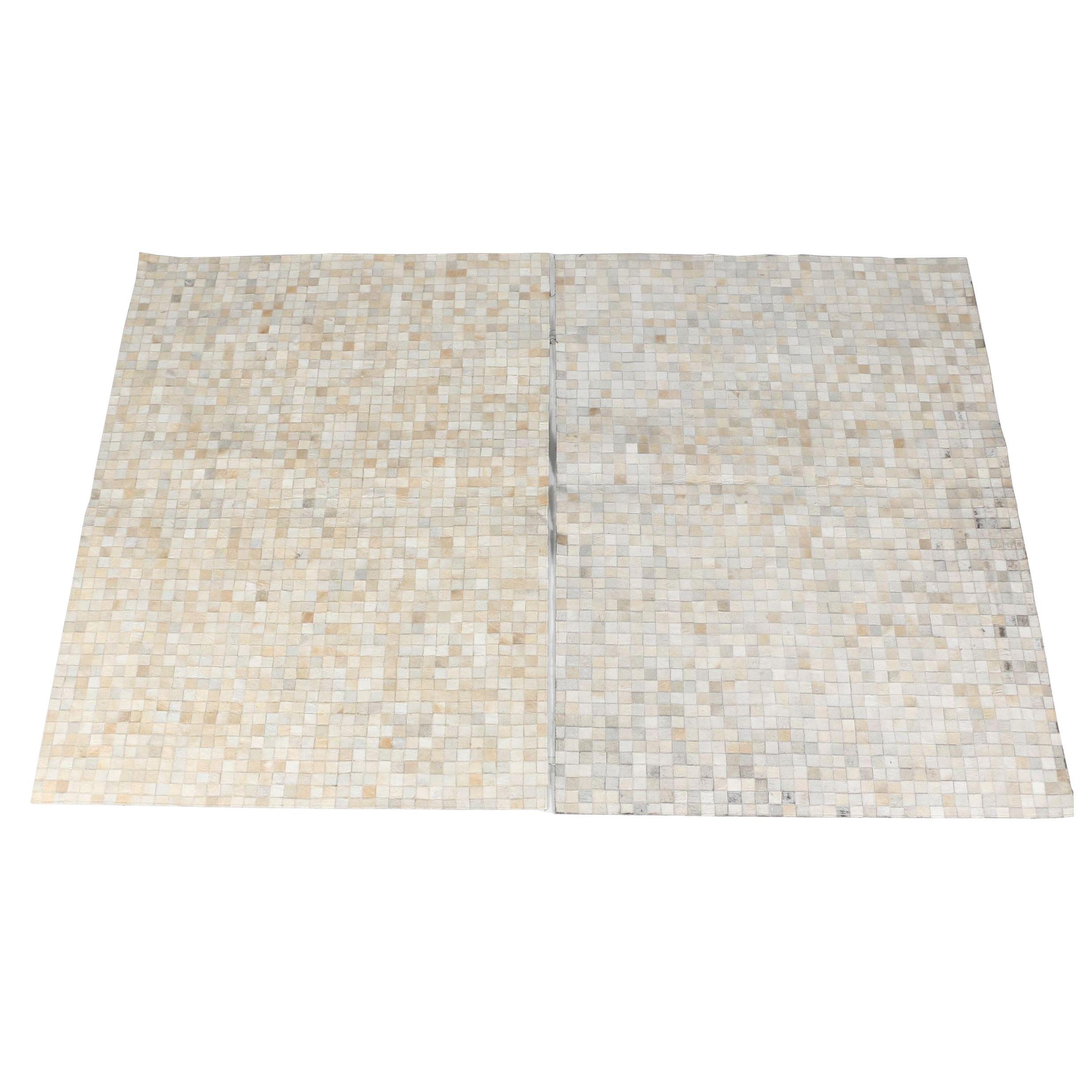 Handmade Indian Checkerboard Hide Area Rugs