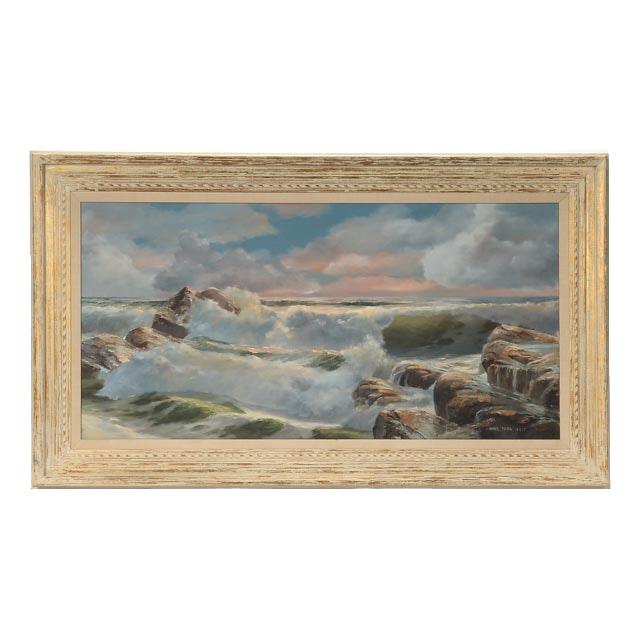 James Peter Cost Original Large Oil on Canvas Seascape