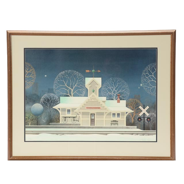 Wilbur Meese Signed 1985 Limited Edition Offset Lithograph