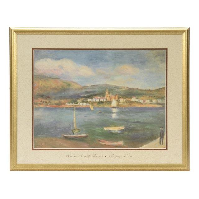 """Offset Lithograph after Pierre Auguste Renoir's """"Paysage en Été"""""""