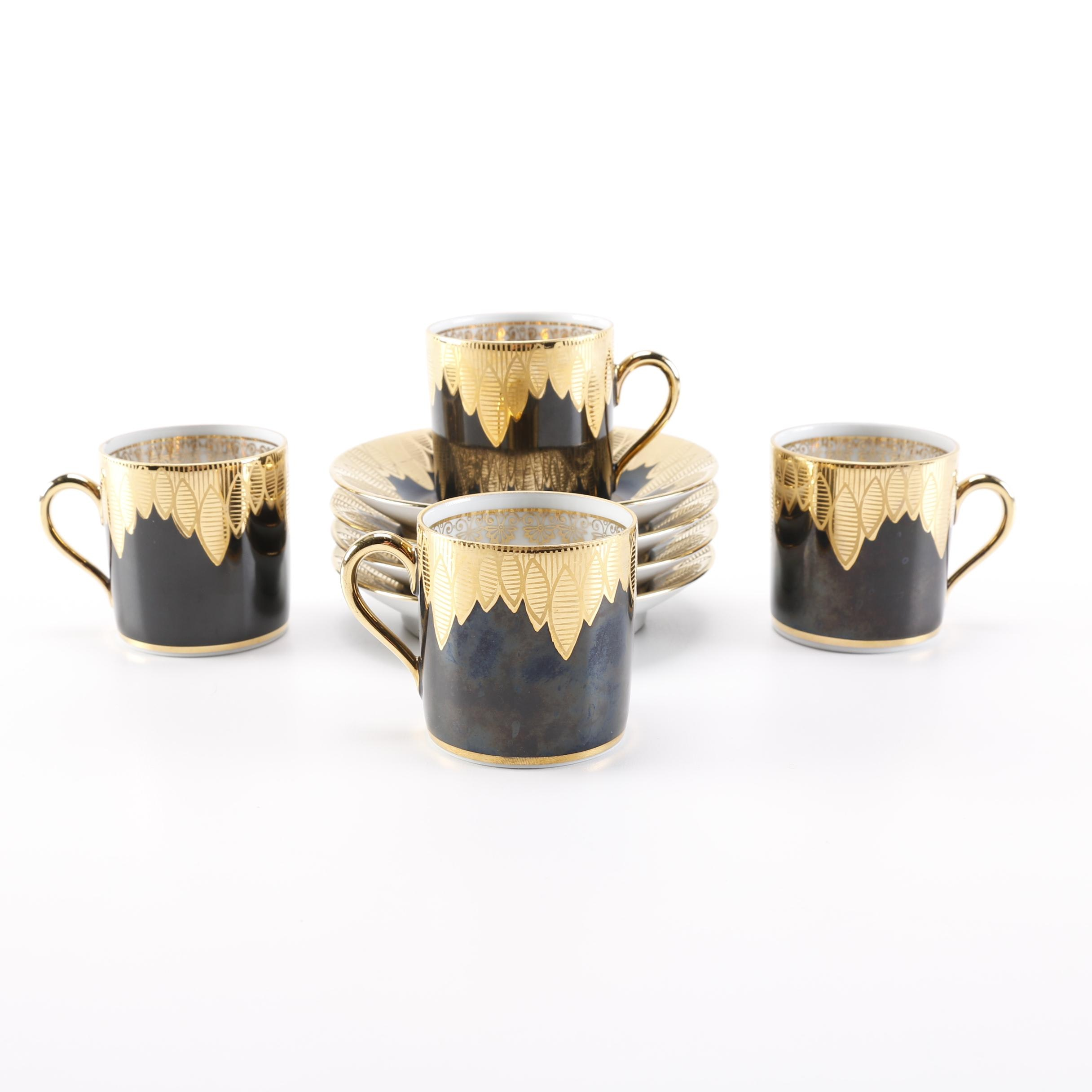 Rudolph Wachter Bavarian Porcelain Mugs and Saucers