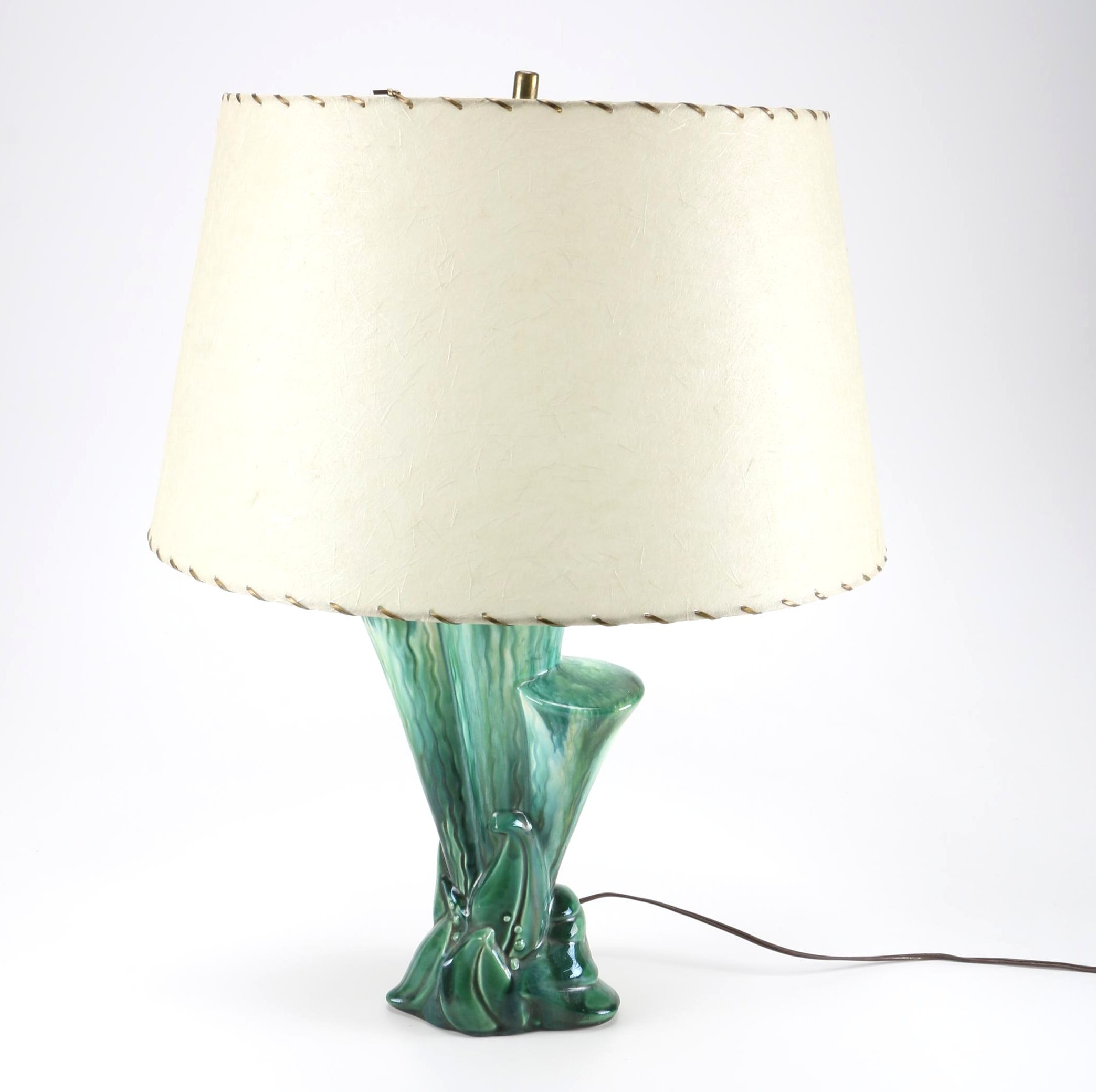 Ceramic Aqua Table Lamp
