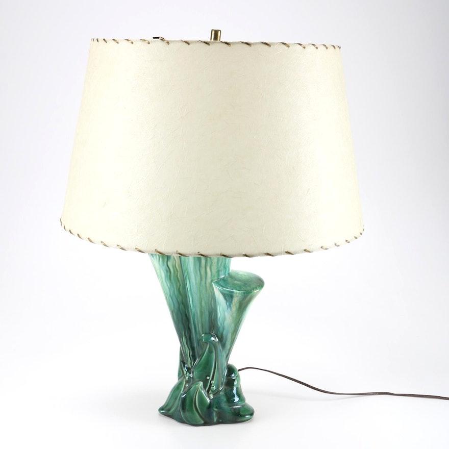 Ceramic Aqua Table Lamp