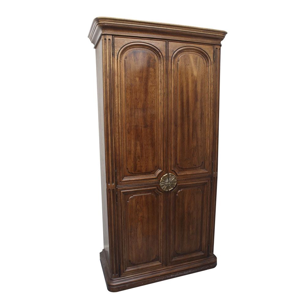 henredon furniture oak armoire