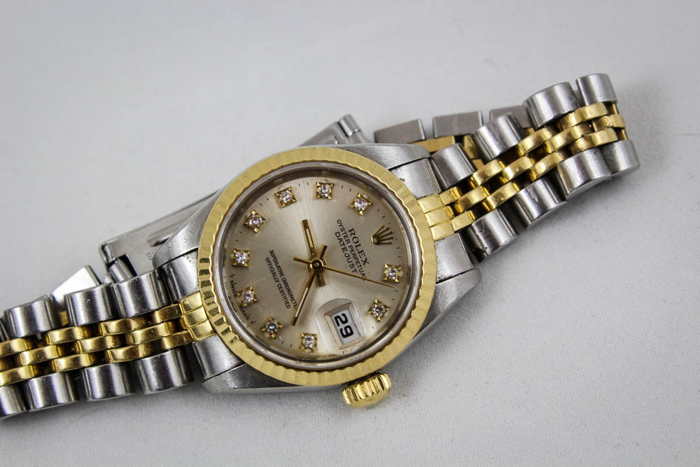 Women's Rolex 18K Yellow Gold Two-Tone Datejust Watch