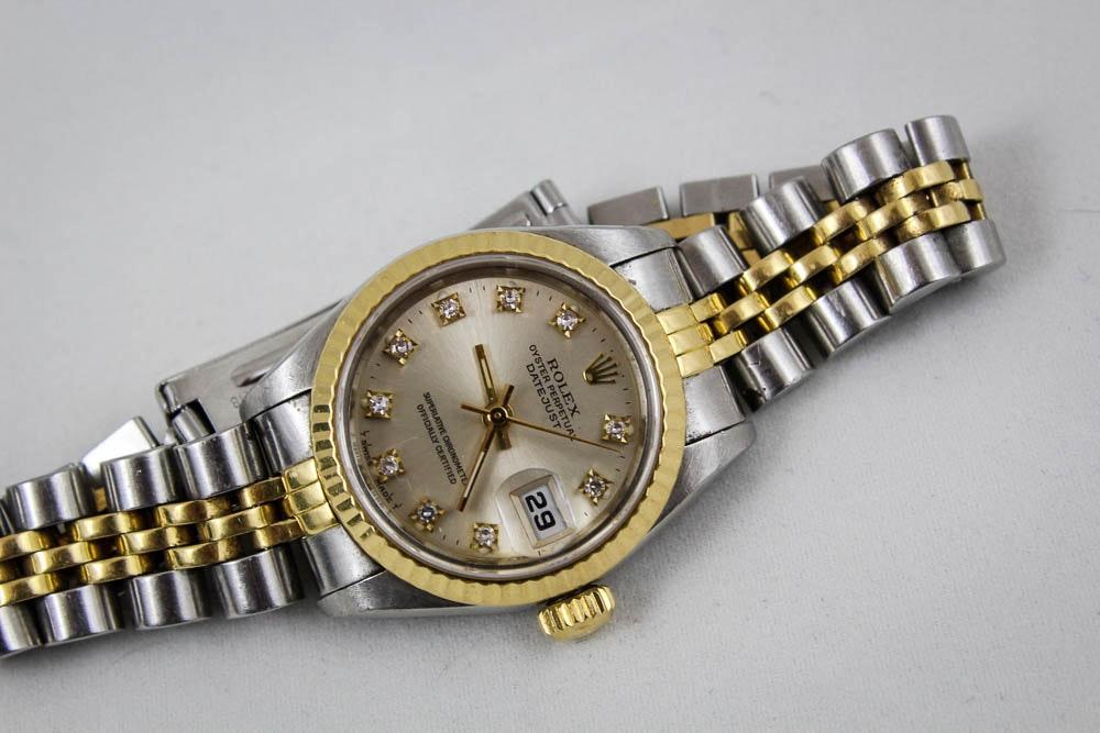 Women's Rolex 18K Yellow Gold Two-Tone Datejust Watch