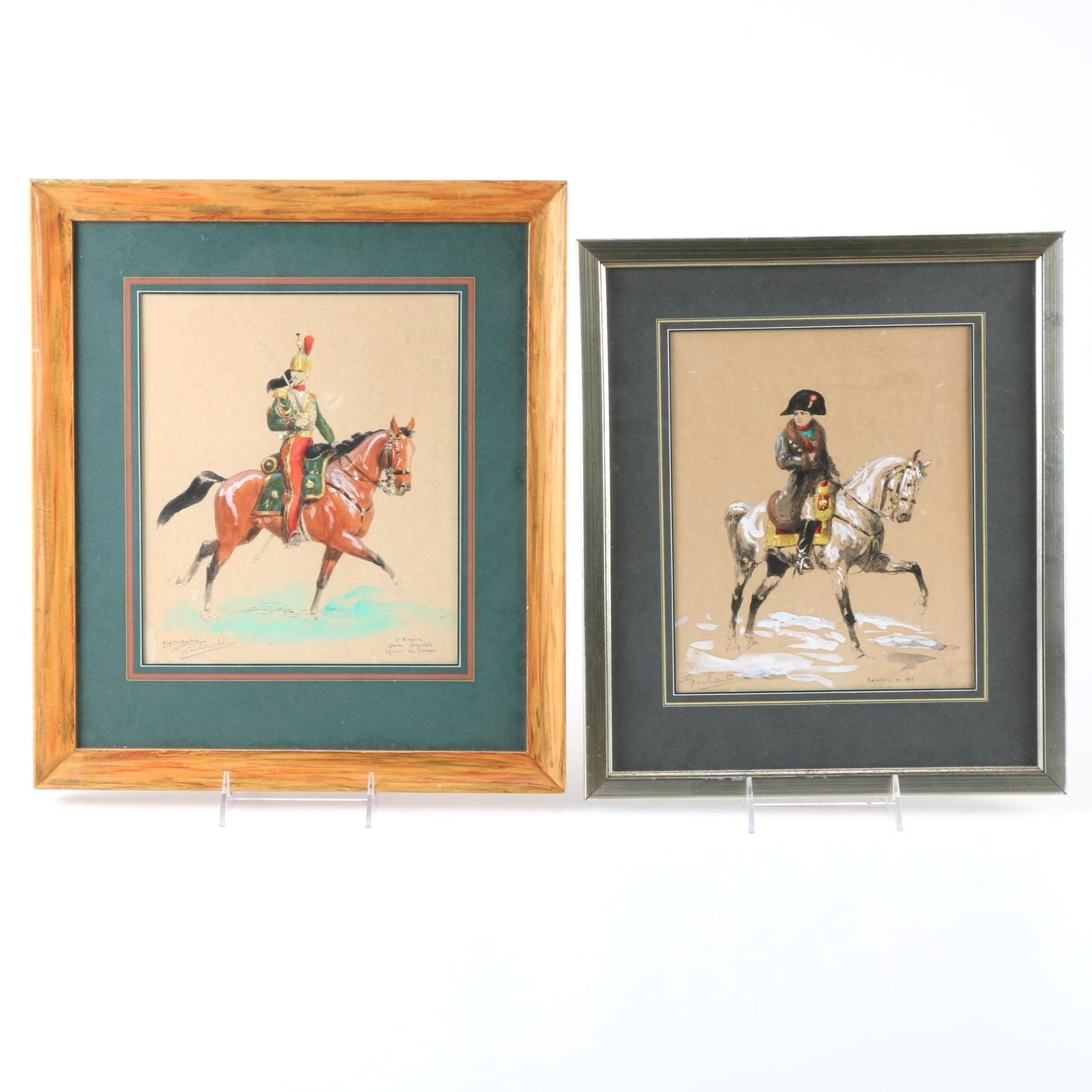 Eugene Pechaubes Hand-Colored Lithographs