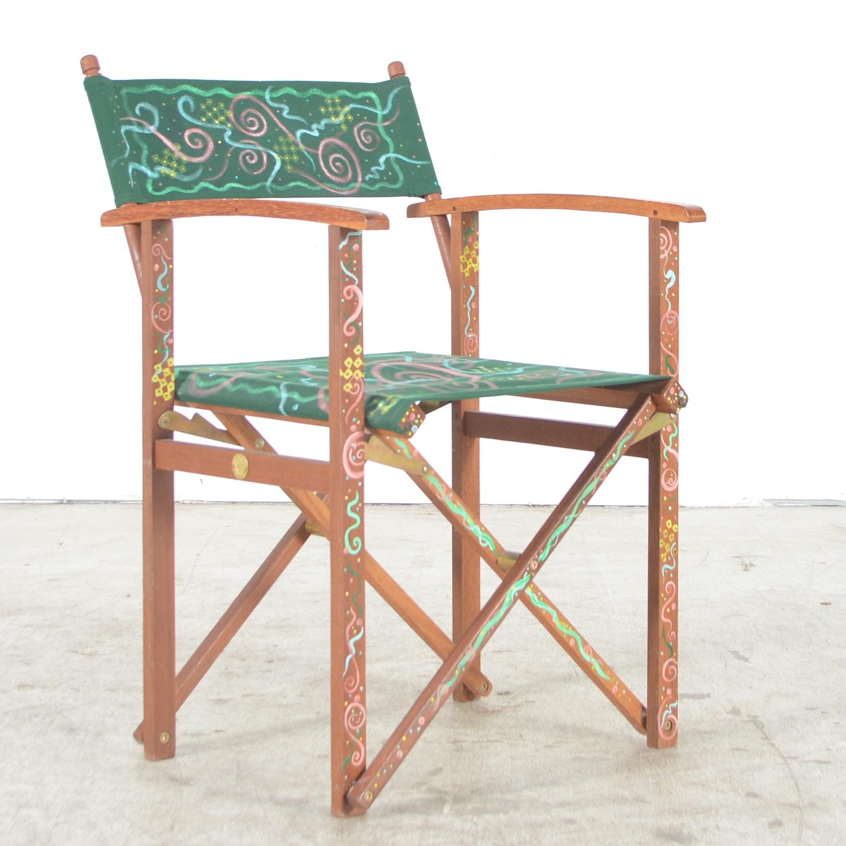 "Jim Brancaccio Mixed-Media ""Usable Art: Folding Chair"""