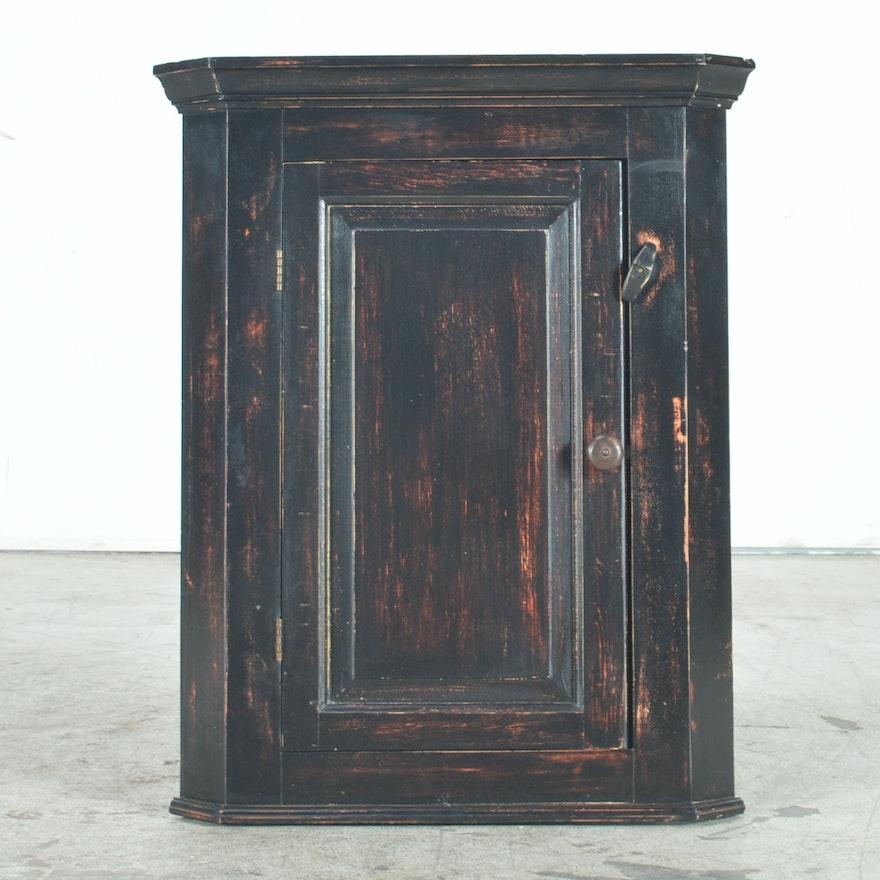 Antique Hanging Corner Cabinet ... - Antique Hanging Corner Cabinet : EBTH