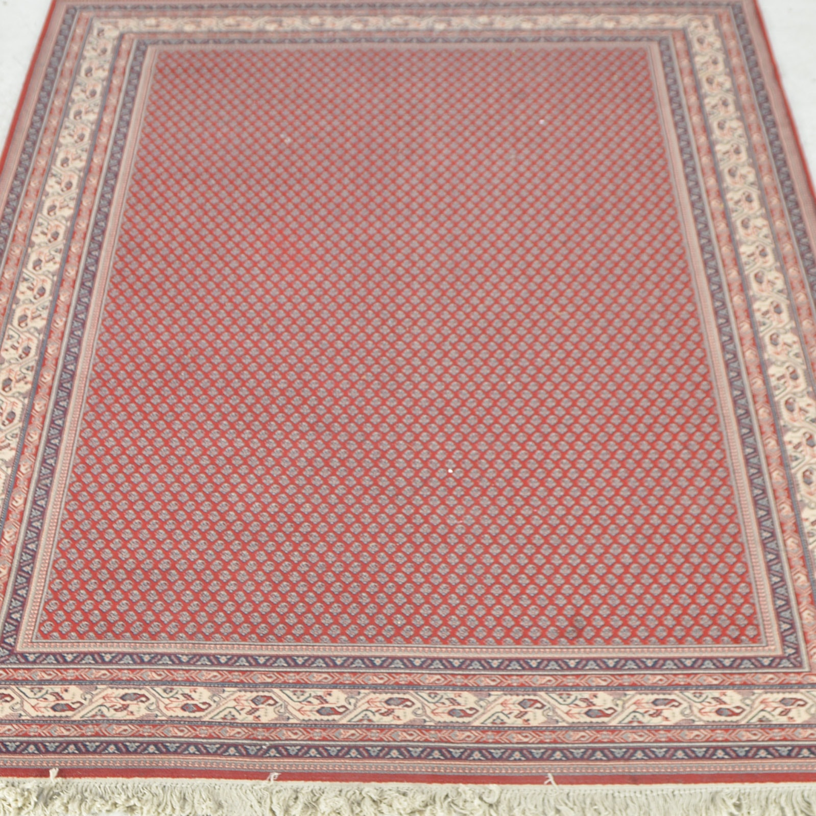 Machine woven Mir-A-Boteh Serabend-Style Area Rug