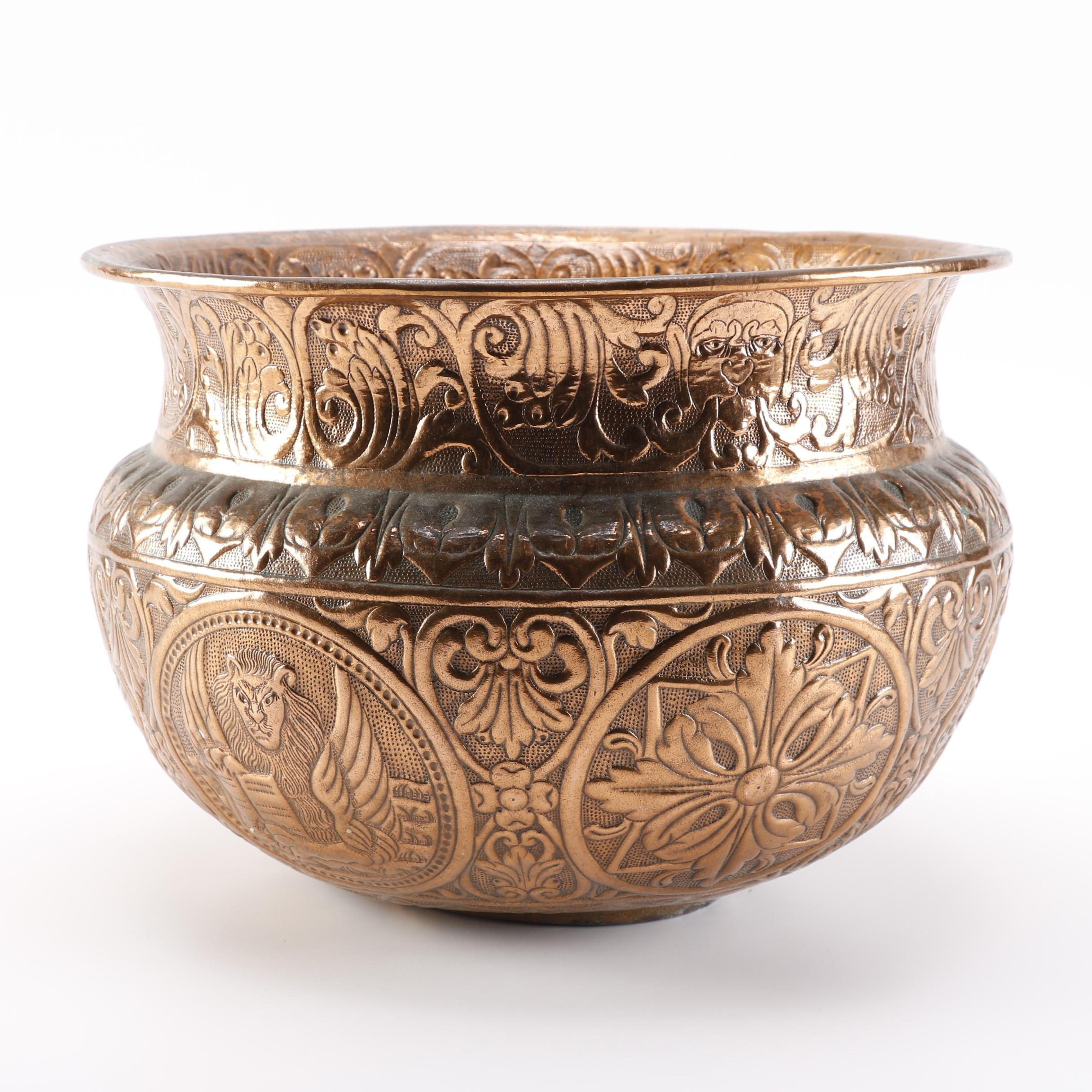 Copper Pot Decorated With Medusa