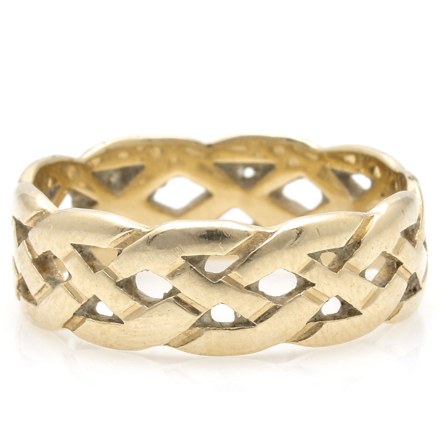 14K Yellow Gold Openwork Band
