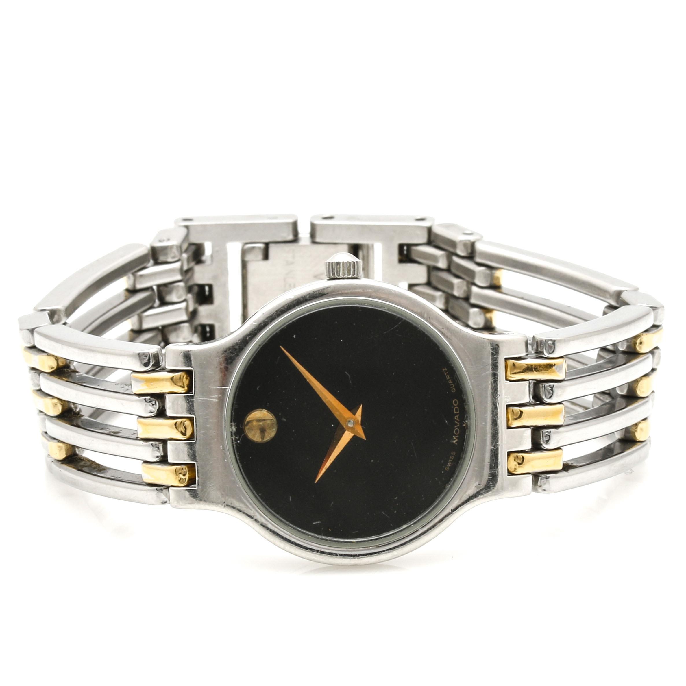 Swiss Movado Quartz Museum Dial Wristwatch