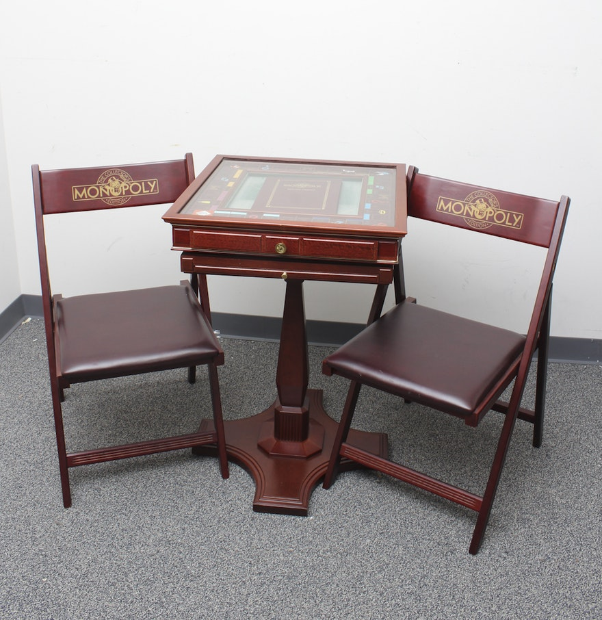 Game Table And Chairs Set Franklin Mint Monopoly Game Table And Chairs Set Ebth