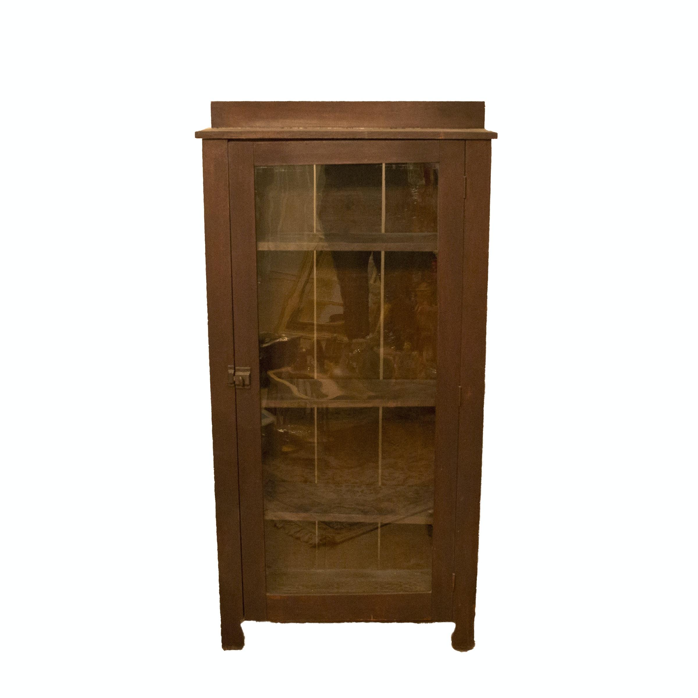 Early 20th Century Glazed-Door Jelly Cupboard
