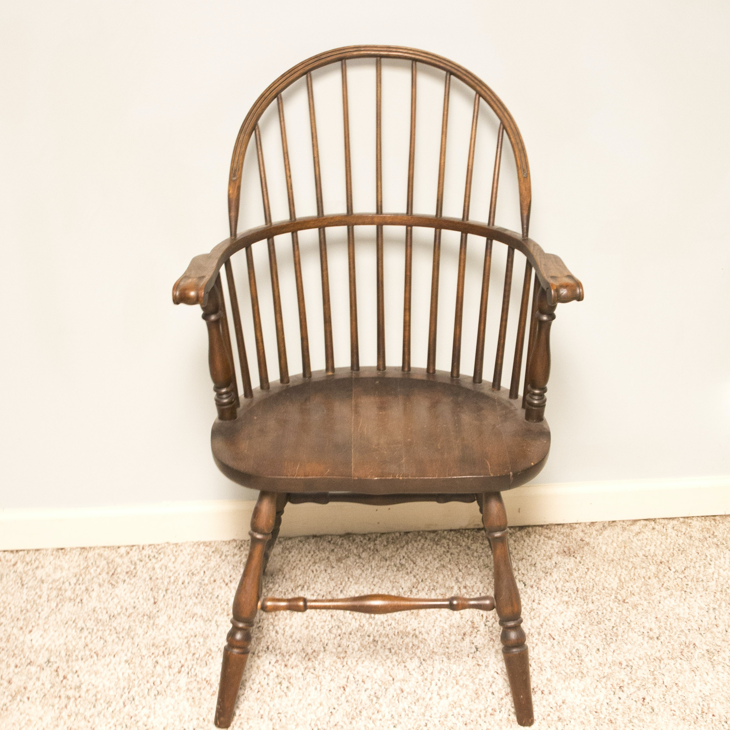 Vintage Windsor Style Sack-Back Armchair by Cochran Chair Company
