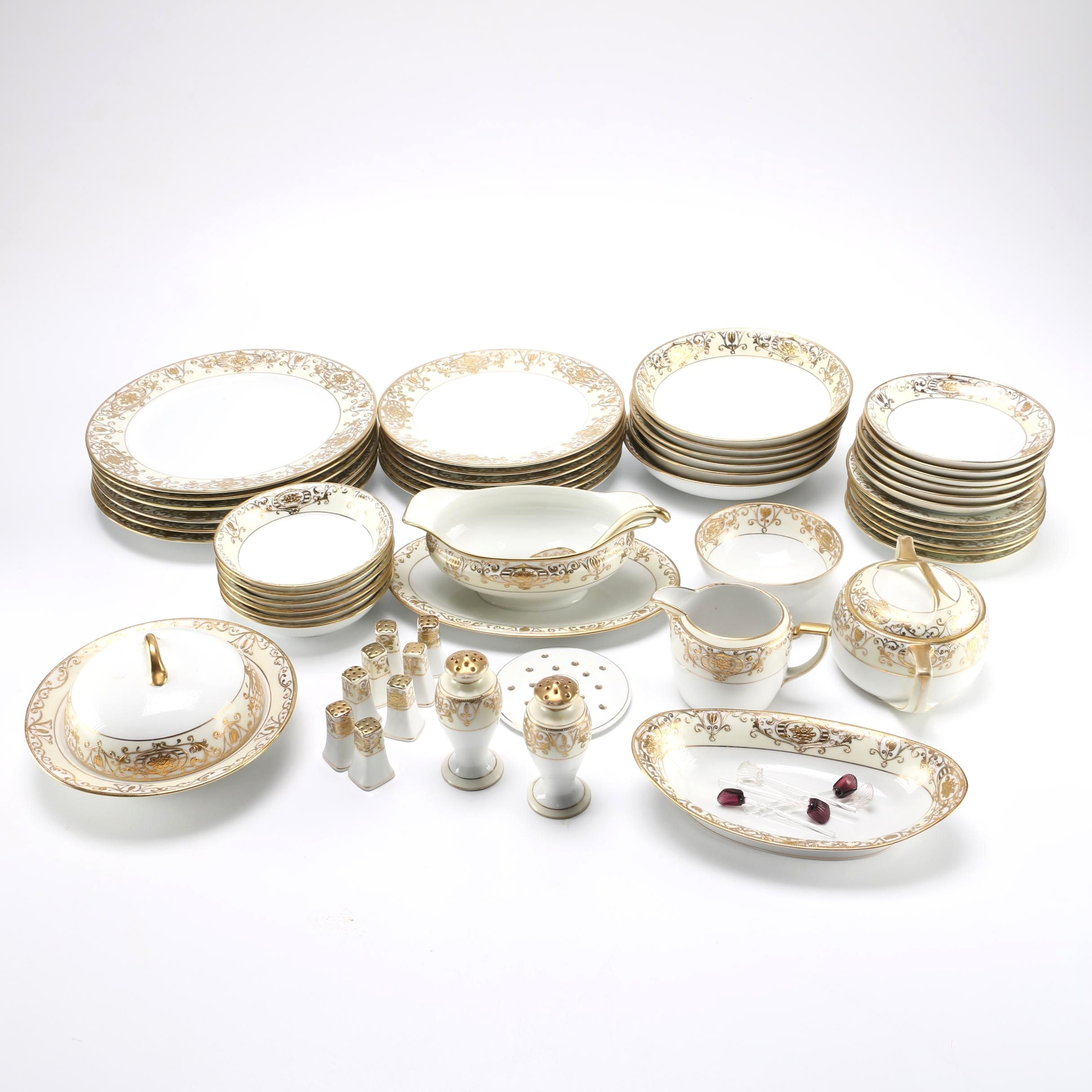 Set of Hand Painted Noritake China